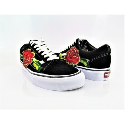 VANS OLD SKOOL ROSA APPLICATA