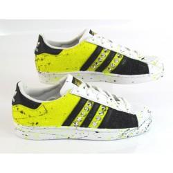 adidas superstar glitter fluo