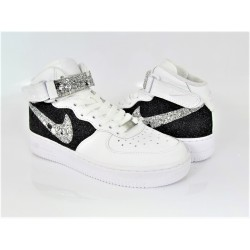 NIKE AIR FORCE 1MID GLITTER...