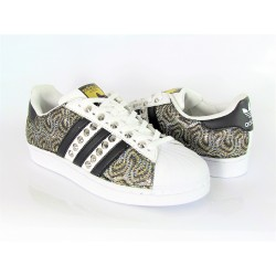 SUPERSTAR LOGO NERO CUSTOM...